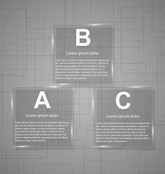 Business Glass Infographic vector image vector image