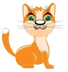 Redhead kitten vector image