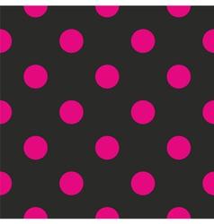Seamless dark pattern with big neon pink polka dot vector image vector image