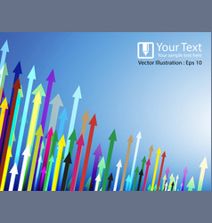 abstract arrows different colorful background vector image vector image