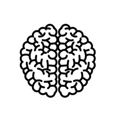 Brain organ human intelligence concept outline vector