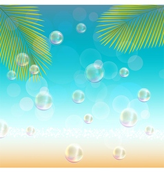Landscapes background with palm tree vector image vector image