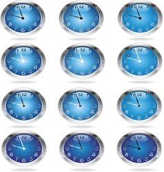 metal clocks resize vector image