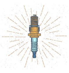 spark plug logo design template vector image vector image