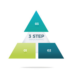 three step pyramid infographic vector image vector image