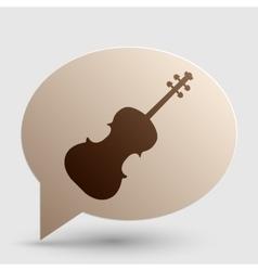 Violine sign Brown gradient icon on vector image vector image