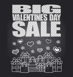 big valentines day sale vector image vector image