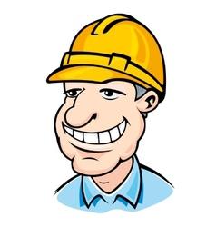 Builder man vector image vector image