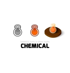 Chemical icon in different style vector image vector image
