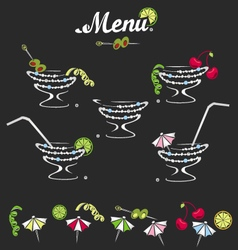Cocktail menu vector