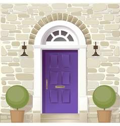 entrance of house vector image vector image