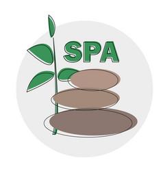 spa logo template spa stones hand drawn vector image