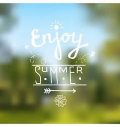 Summer design background vector image vector image