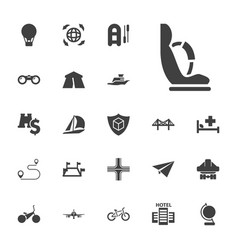 22 travel icons vector