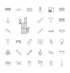 33 garden icons vector