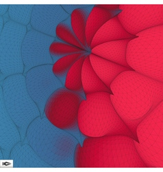 3d Perspective Grid Background Mosaic vector image