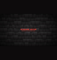 3d square blocks pattern technological dark mode vector
