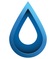3d water drop vector image