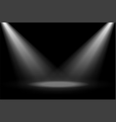 Abstract stage spotlight focus on black background vector