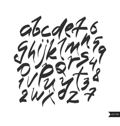 Alphabet lettersBlack handwritten font drawn with vector image