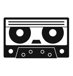 audio cassette tape icon simple style vector image