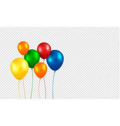 balloons realistic flying birthday helium vector image