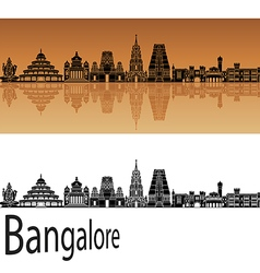 Bangalore skyline in orange vector