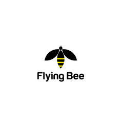 bee icon template vector image