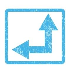 Bifurcation Arrow Left Up Icon Rubber Stamp vector