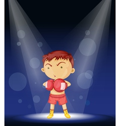 Boy Boxer Stage Performance vector