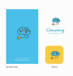 brain circuit company logo app icon and splash vector image