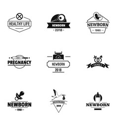 brought logo set simple style vector image