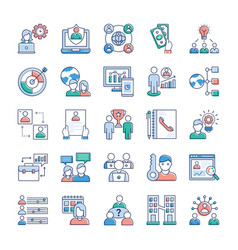 business and jobs icons set vector image