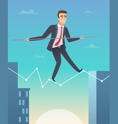 businessman balancing concept picture happy vector image