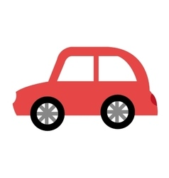 Car vehicle silhouette icon vector