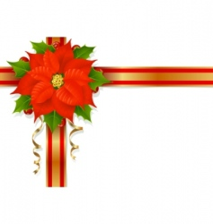 christmas flower vector image