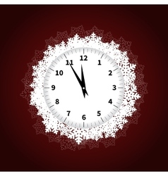 Christmas Snowflakes Watch vector image