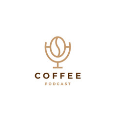 coffee podcast logo icon for coffee blog video vector image