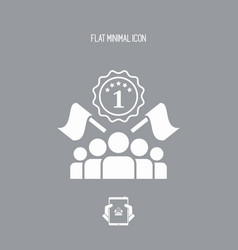 competition winner - flat minimal icon vector image