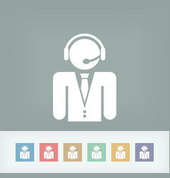 Contact assistance icon vector