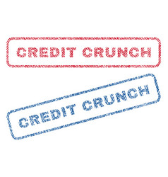 Credit crunch textile stamps vector