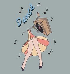 Dance concept vector image