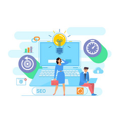digital marketing concept seo search engine vector image