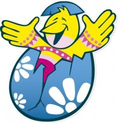 Easter chicken in egg vector
