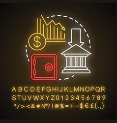 Economic deprivation neon light concept icon vector