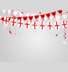 England flags celebration background template vector