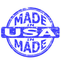 Fabricated in united states america vector