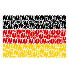 german flag pattern of coffee bean icons vector image