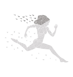 girl running women vector image