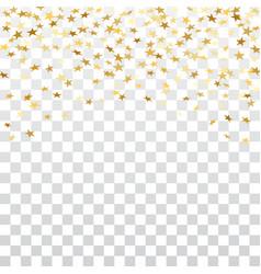 Gold star confetti background vector